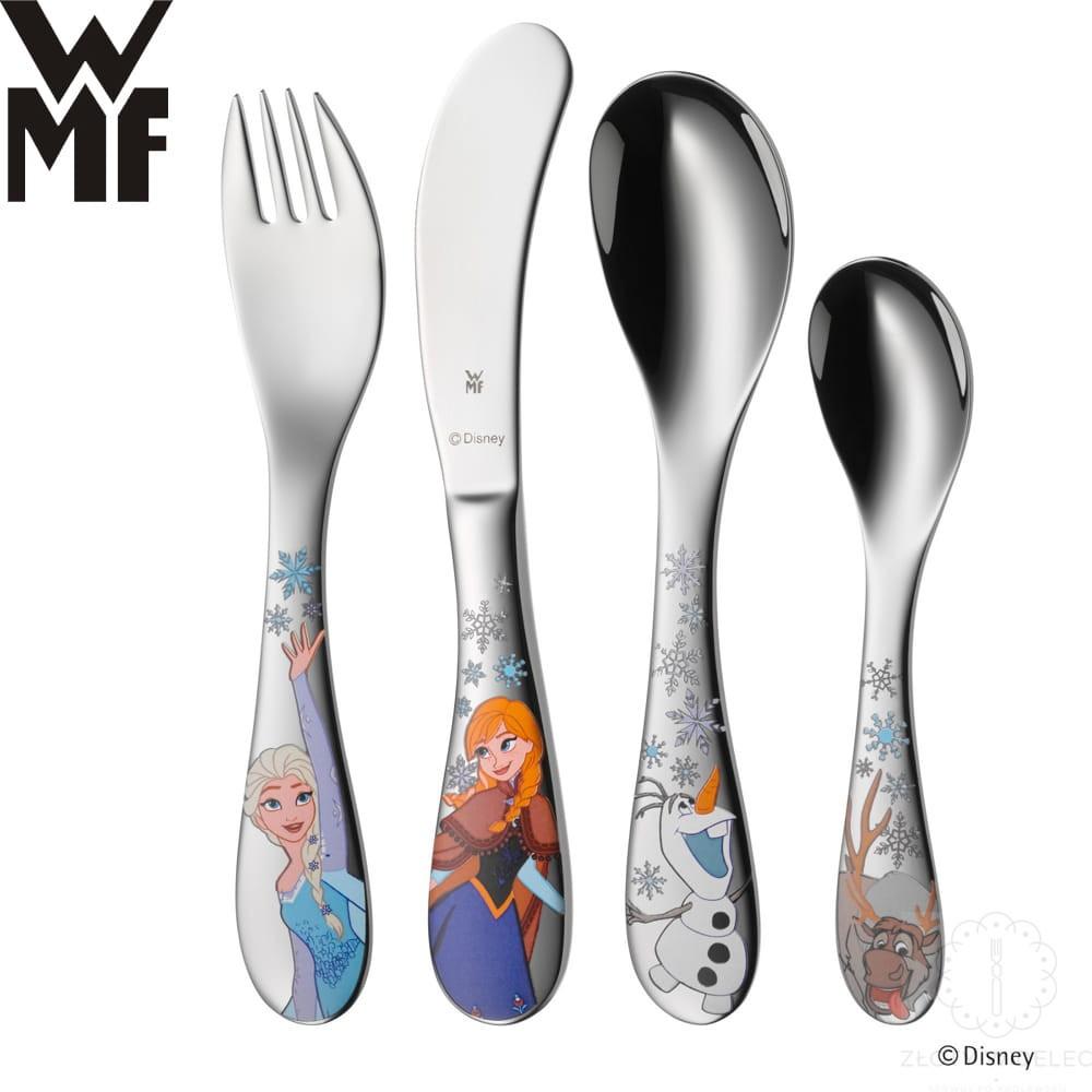WMF zestaw 4cz. sztućców, sztućce dla dzieci Kraina Lodu, Frozen