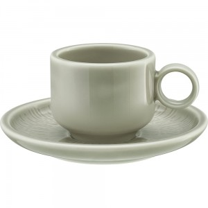 Schonwald - Shiro Glaze Steam filiżanka do espresso z podstawkiem 90 ml.